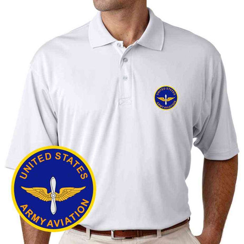 u s army aviation performance polo shirt