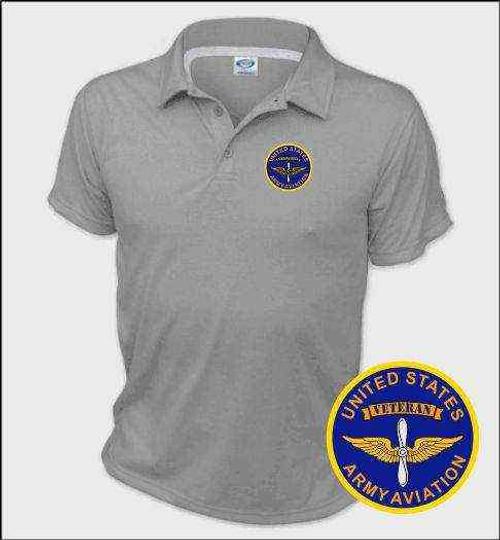 u s army aviation veteran performance polo shirt