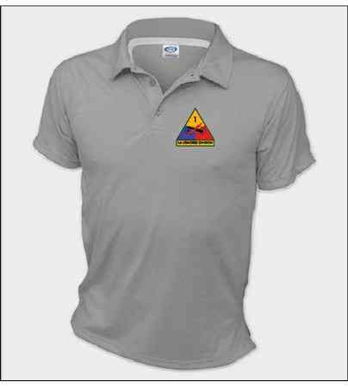 1st armored division performance polo shirt