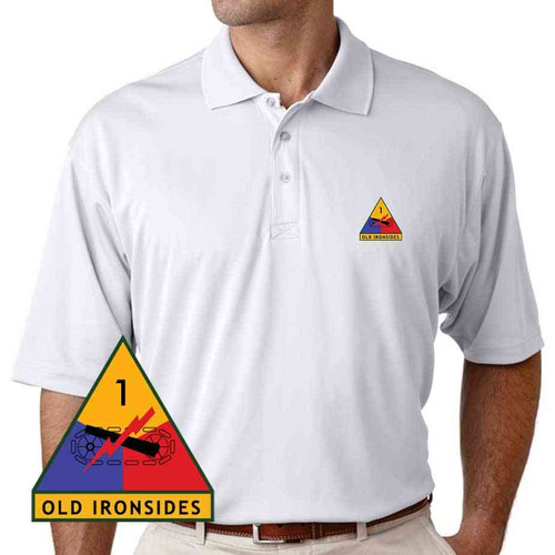 1st armored division old ironsides performance polo shirt