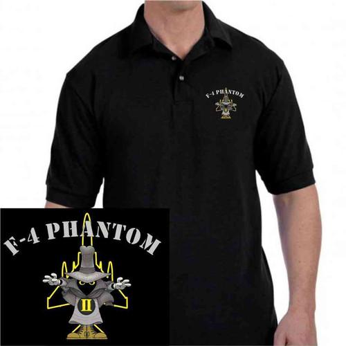 f4 phantom embroidered polo shirt