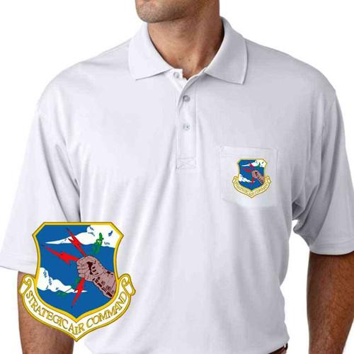 air force strategic air command performance pocket polo shirt