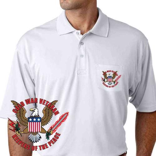 cold war veteran keepers peace performance pocket polo shirt