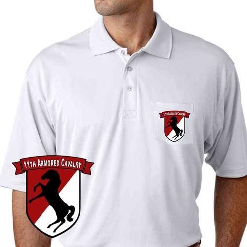 11th armored cavalry performance pocket polo shirt