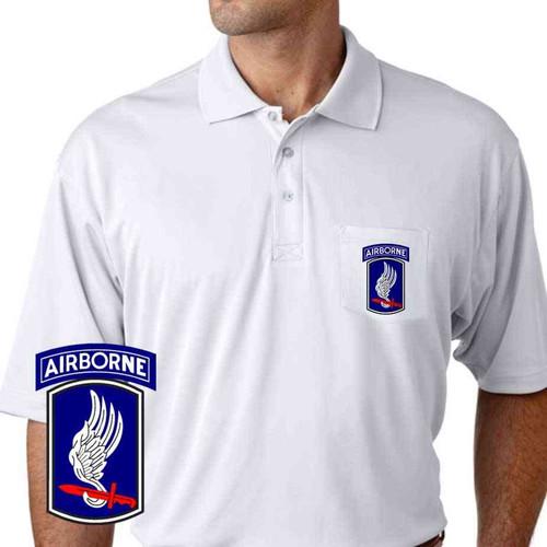 army 173rd airborne brigade performance pocket polo shirt