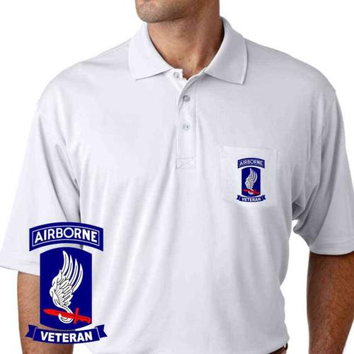 army 173rd airborne brigade veteran performance pocket polo shirt