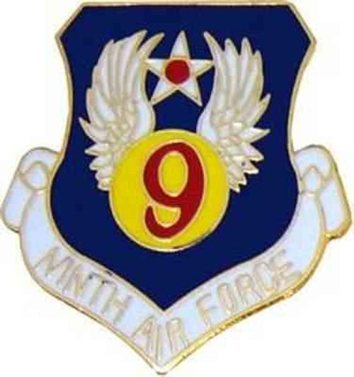 air force 9th air force hat lapel pin