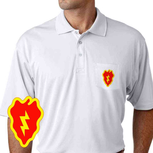army 25th infantry division performance pocket polo shirt