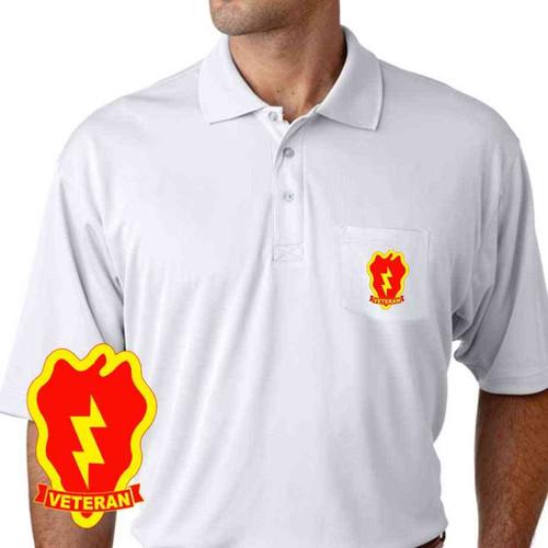 army 25th infantry division veteran performance pocket polo shirt