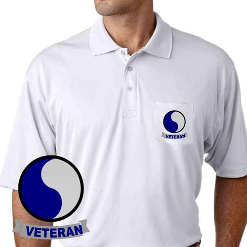 army 29th infantry division veteran performance pocket polo shirt