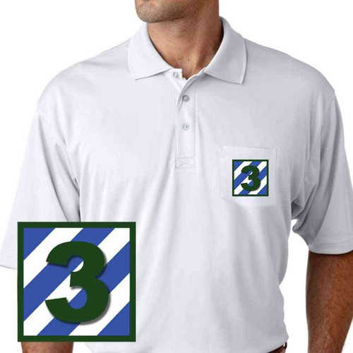 army 3rd infantry 3 performance pocket polo shirt