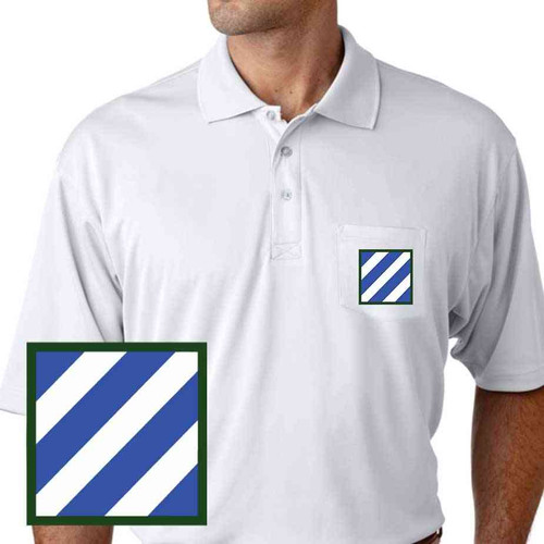 army 3rd infantry performance pocket polo shirt