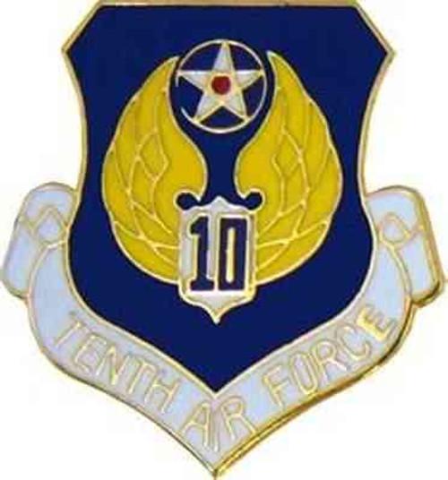 air force 10th air force hat lapel pin