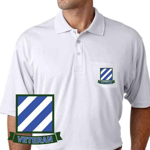 army 3rd infantry veteran performance pocket polo shirt