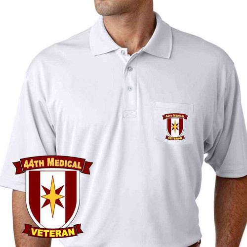 army 44th medical veteran performance pocket polo shirt