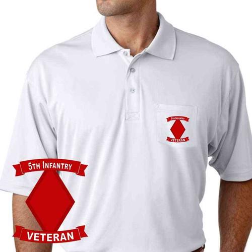 army 5th infantry division veteran performance pocket polo shirt