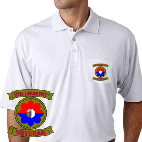 army 9th infantry division veteran performance pocket polo shirt