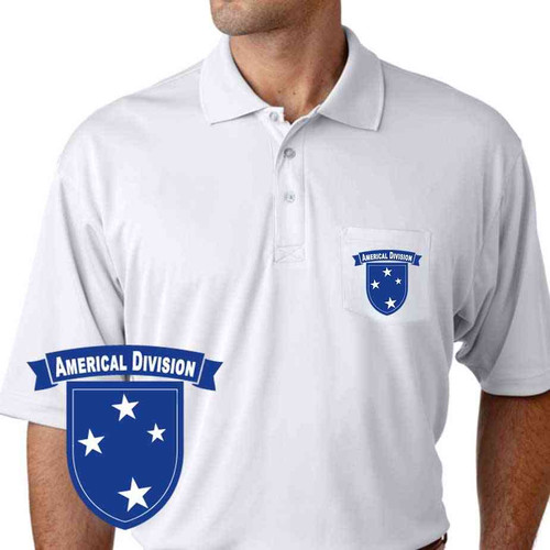 army americal 23rd infantry division performance pocket polo shirt