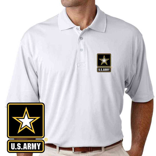 the officially licensed u s army performance polo