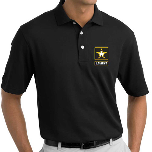 officially licensed us army polo shirt black embroidery