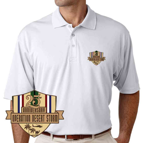 desert storm 25th anniversary polo shirt