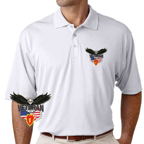 25th infantry division w eagle performance polo shirt