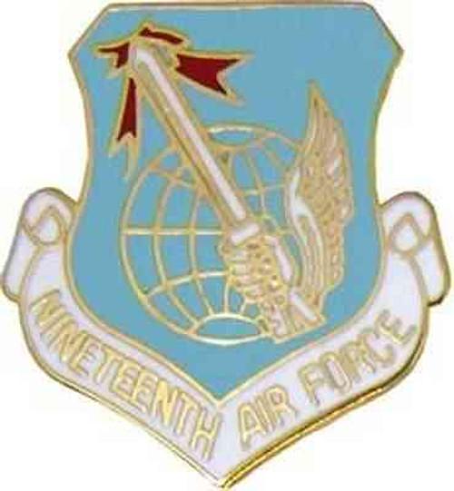 air force 19th air force hat lapel pin