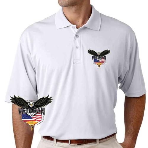 army nurses corps w eagle performance polo shirt