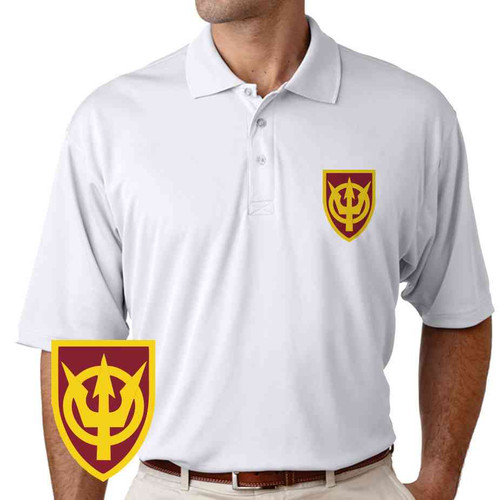 4th transportation command performance polo shirt