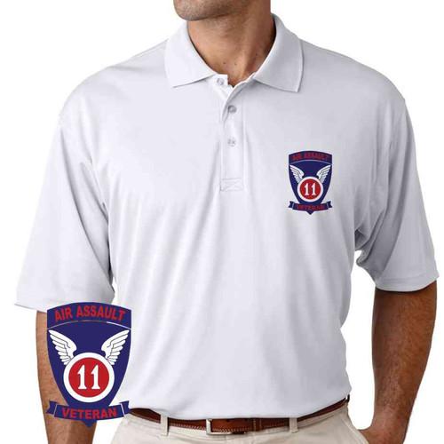 11th air assault veteran performance polo shirt