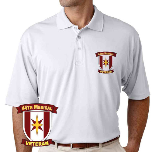 44th medical brigade veteran performance polo shirt