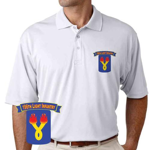 196th light infantry brigade performance polo shirt
