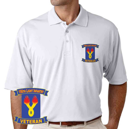 196th light infantry brigade veteran performance polo shirt