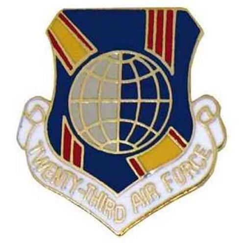 twenty third air force hat lapel pin