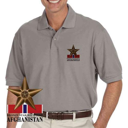 afghanistan veteran bronze star recipient performance polo shirt