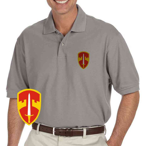 macv grey performance polo shirt