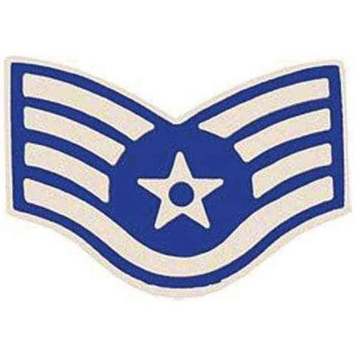 air force e5 ssgt hat lapel pin
