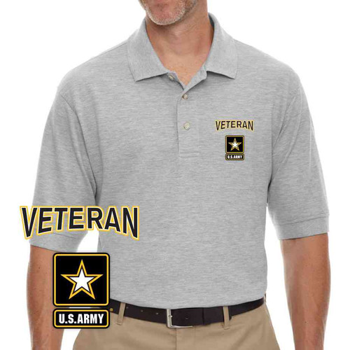 the officially licensed u s army veteran embroidered polo shirt