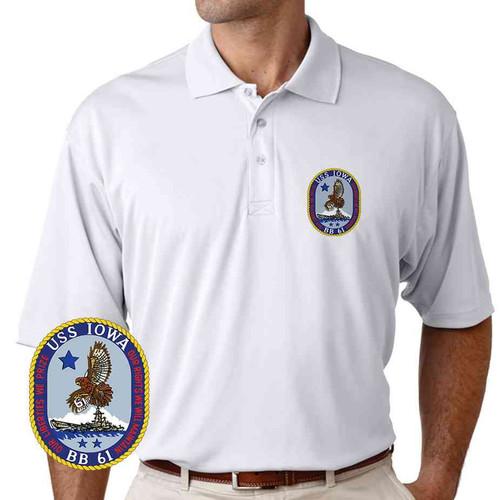 uss iowa performance polo shirt