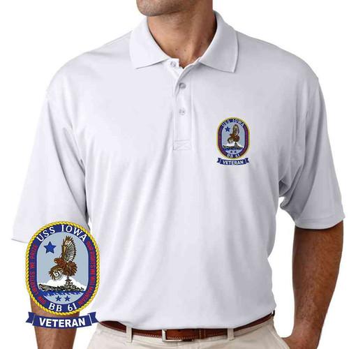 uss iowa veteran performance polo shirt
