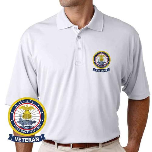 uss john c stennis veteran performance polo shirt