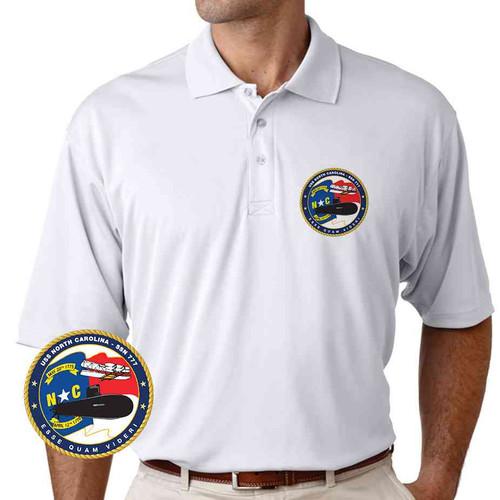 uss north carolina performance polo shirt