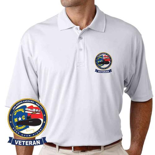 uss north carolina veteran performance polo shirt