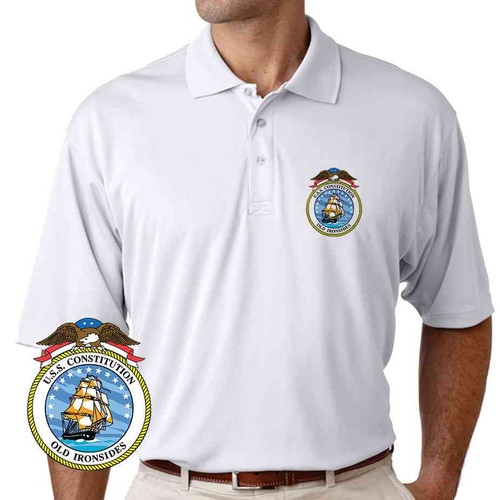 uss constitution performance polo shirt