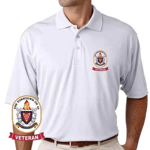 uss yorktown veteran performance polo shirt