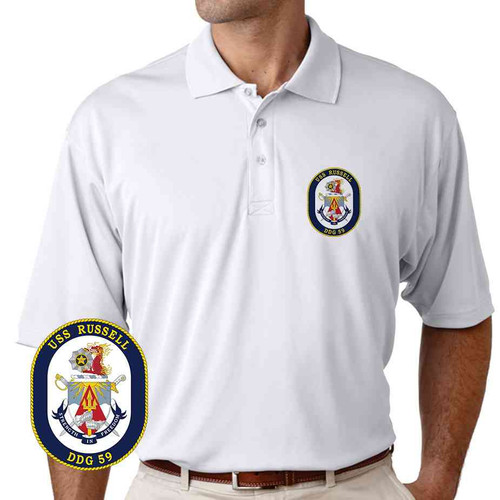 uss russell performance polo shirt