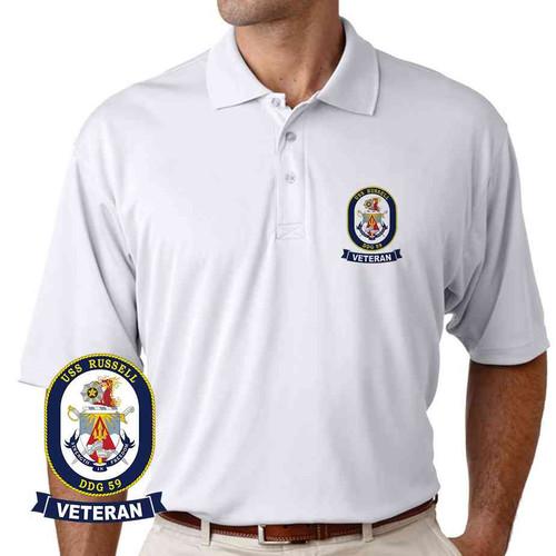 uss russell veteran performance polo shirt