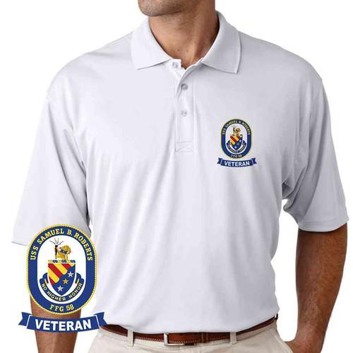 uss samuel b roberts veteran performance polo shirt