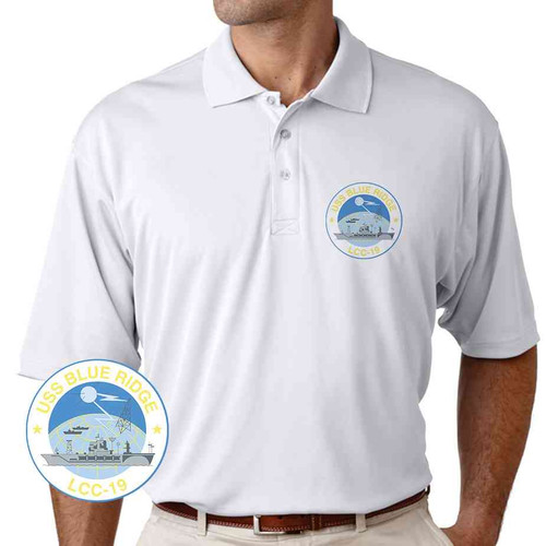 uss blue ridge performance polo shirt