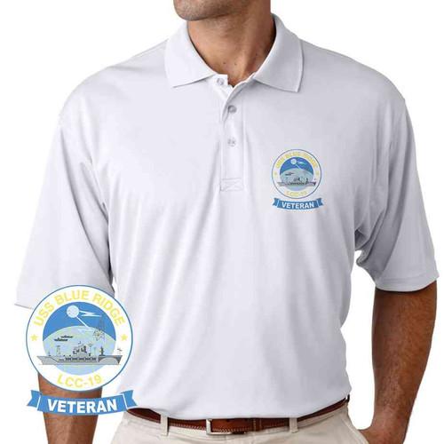uss blue ridge veteran performance polo shirt
